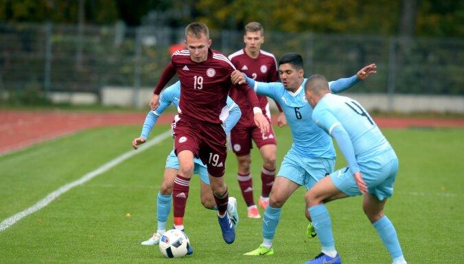 Latvijas U-19 futbolisti EČ kvalifikāciju sāk ar neizšķirtu pret Izraēlu