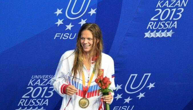 Pasaules čempione peldēšanā: mūs piespieda piedalīties Universiādē