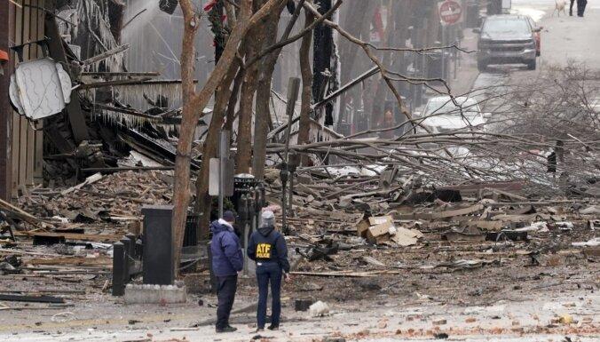 Sprādzienā Našvilā trīs ievainotie