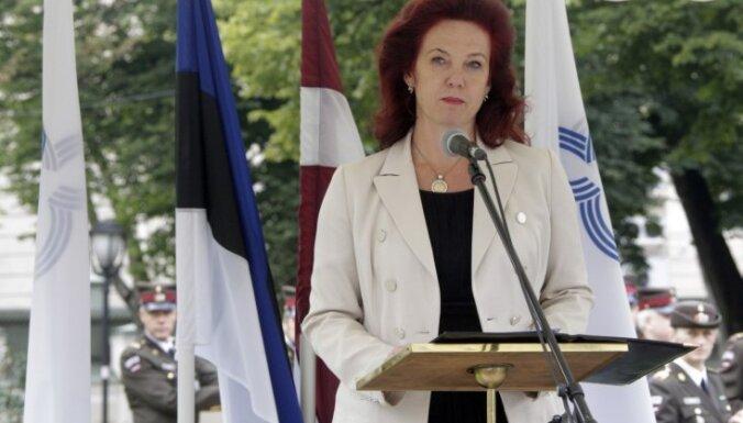 Āboltiņa: brīvas un plaukstošas Baltijas valstis ir mūsu kopīgs sasniegums