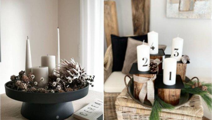 Kad nav laika taisīt vainagu: idejas vienkāršiem adventes dekoriem