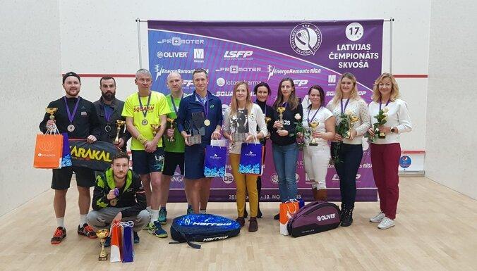 Latvijas čempioni skvošā – Pāvulāns un Lulle