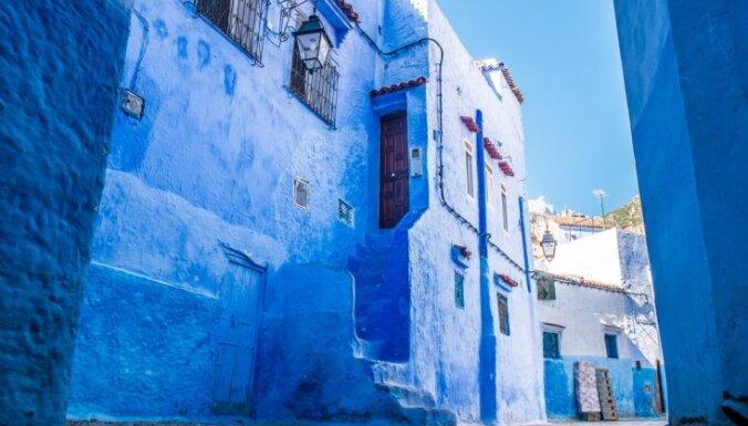 Brīnumaina vieta - zilā pilsēta Marokā