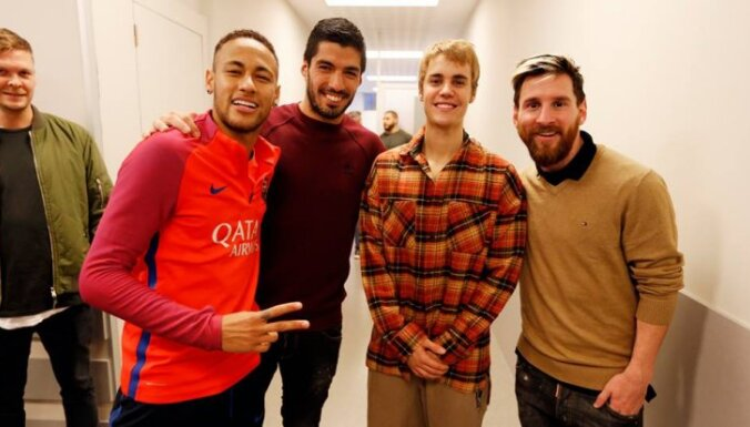 Bieber, Messi, Neymar, Suares