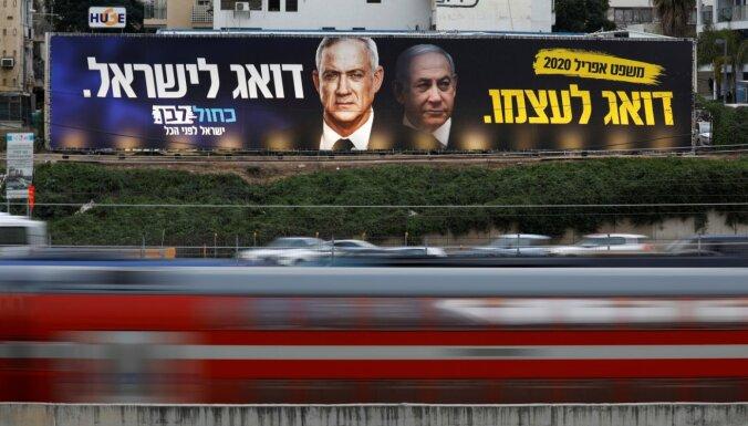 Izraēlas politiskie līderi paraksta vienošanos par ārkārtas vienotības valdības izveidošanu