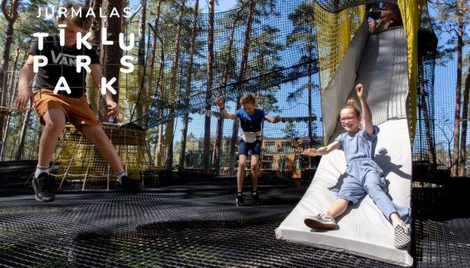 ФОТО. В Юрмале появилось новое место для развлечений – Юрмальский сеточный парк
