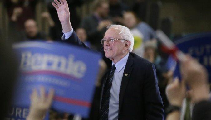 Sanderss pauž atbalstu Baidena kandidatūrai prezidenta amatam