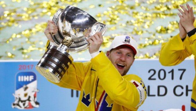 Zviedrijas izlasi papildinās NHL zvaigzne Landeskogs; Dānijas komandu negaidīti pametis līderis Ēlers