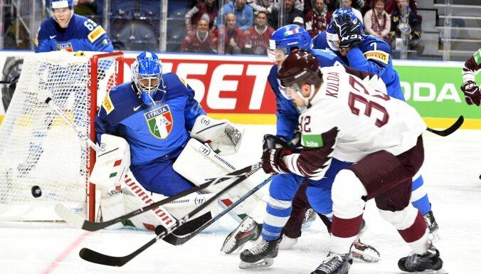 Latvijas hokeja izlase iekļūst pasaules čempionātu vēsturē