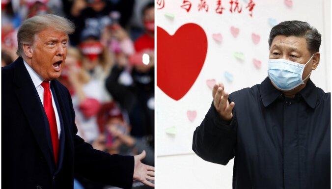 Ķīna jāsauc pie atbildības par Covid-19, paziņo Tramps