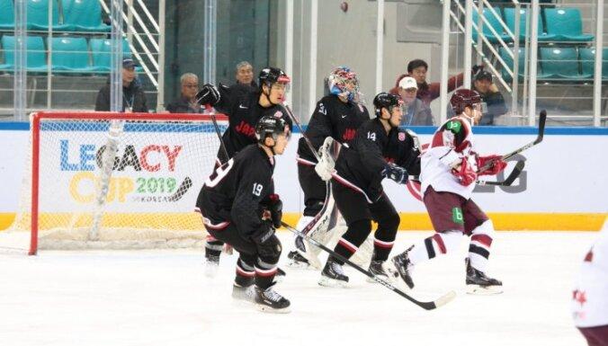 Latvijas hokeja izlase pārbaudes spēlē Dienvidkorejā uzvar arī Japānu