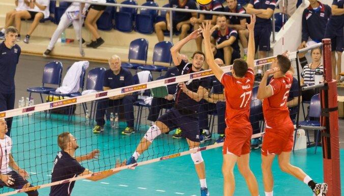 Волейболисты Латвии первый этап отбора на ЧЕ завершили вторыми
