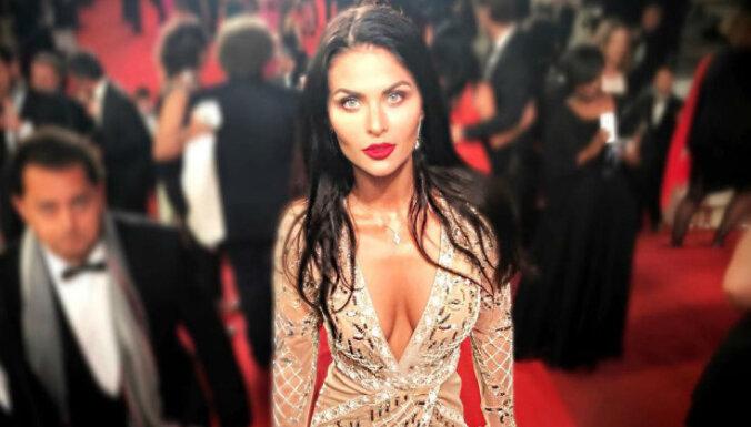 Eiropas skaistākā sieviete Kubasova gozējas smalkā Kannu burziņā