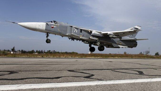 В Сирии разбился российский бомбардировщик Су-24: экипаж погиб