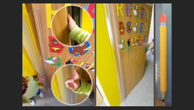 Saudzēsim bērnus pret pirkstu iespiešanu durvīs un traumu gūšanu no kritieniem pret asiem stūriem