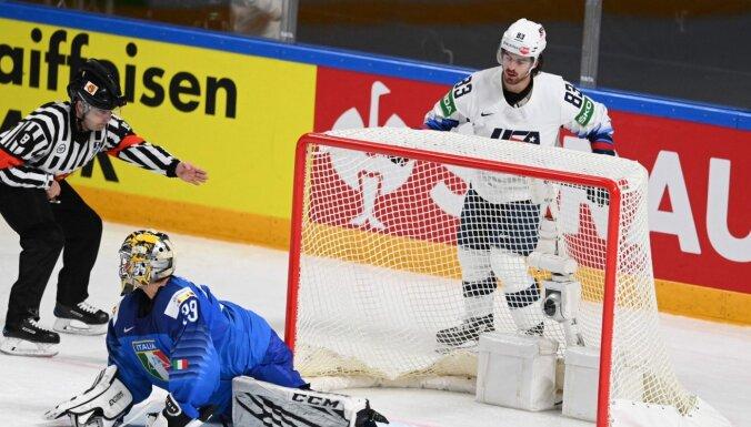 ASV hokejisti laiskā spēlē nodrošina pirmo vietu apakšgrupā