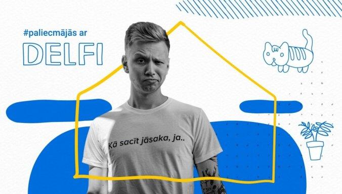 Latgales patriots un sociālo tīklu zvaigzne Lauris Zalāns raidījumā '#PaliecMājās ar Delfi'. Ieraksts
