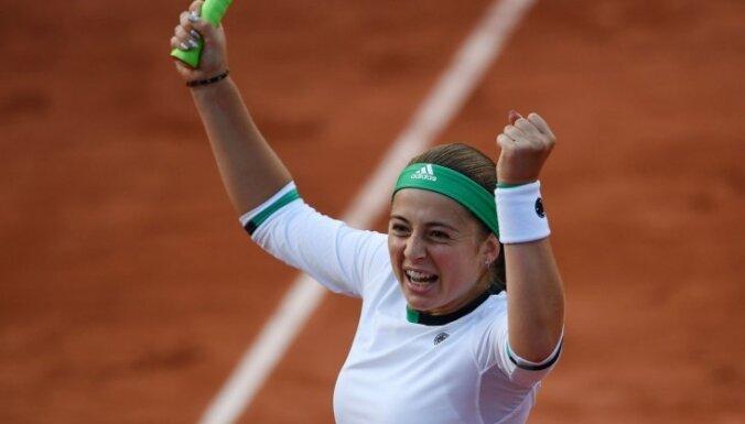 ВИДЕО, ФОТО: Остапенко — первая теннисистка из Латвии, достигшая полуфинала Grand Slam