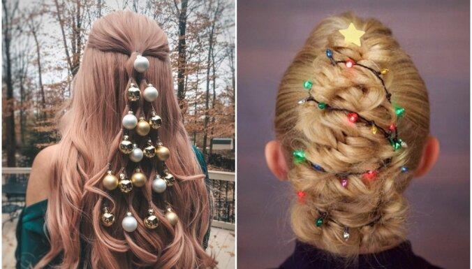 Foto: Radošas un amizantas frizūru idejas Ziemassvētku tematikā
