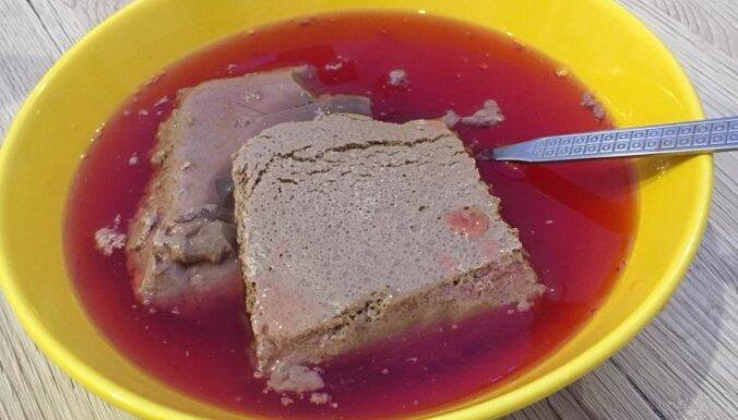 Простой крем из какао с клюквенным киселем