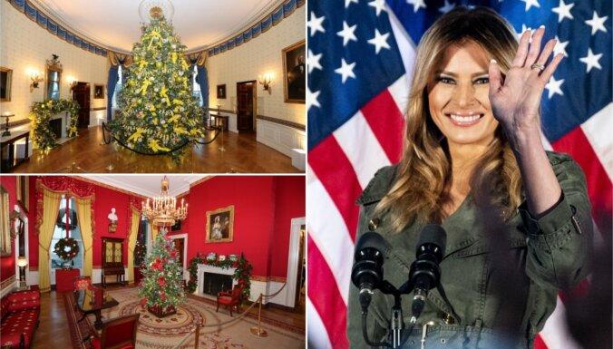 Foto: Melānija Trampa pēdējoreiz sapoš Balto namu Ziemassvētkiem