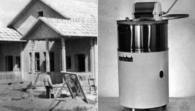 Arhīva foto: Kā savulaik būvēja un iekārtoja mājas