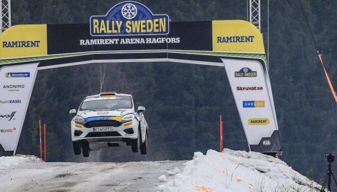 Seskam pirms Zviedrijas rallija pēdējās dienas septītā vieta WRC posma junioru klasē