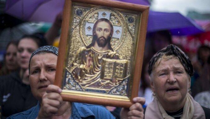 Gada laikā ticīgo skaits Ukrainā pieaudzis par 11 procentiem