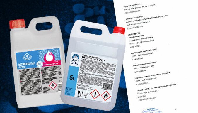 'Kvadro' pret ministriju: kādēļ dezinfekcijas līdzekļus par 735 940 eiro pērk no 'Spodrības'?