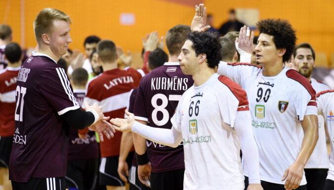 Foto: Latvijas handbola izlase tradicionālā Rīgas domes kausa mačā pieveic Ēģipti