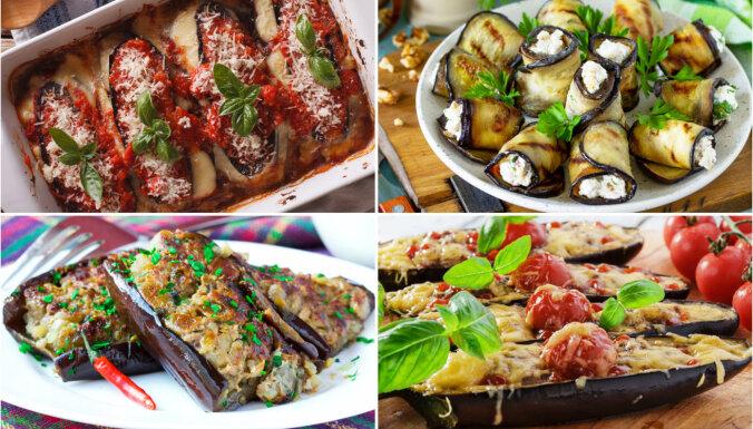 Pildītu baklažānu valdzinājums: 12 receptes tavai vasaras ēdienkartei