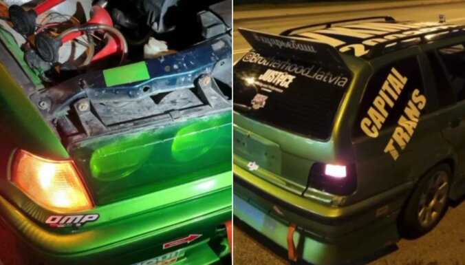 Foto: Kārtējā policijas reidā vairāki 'sporta' BMW šķiras no TA uzlīmes