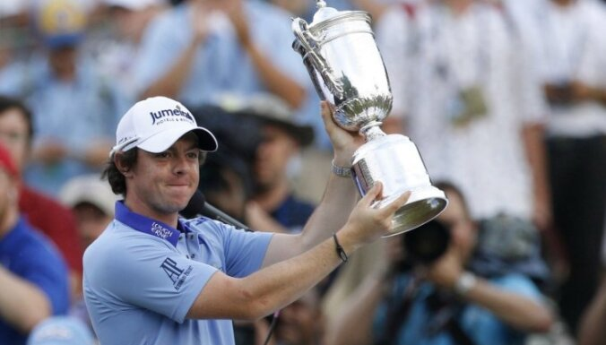 Ziemeļīru golferis Makilrojs uzvar 'US Open' ar labāko rezultātu turnīra vēsturē