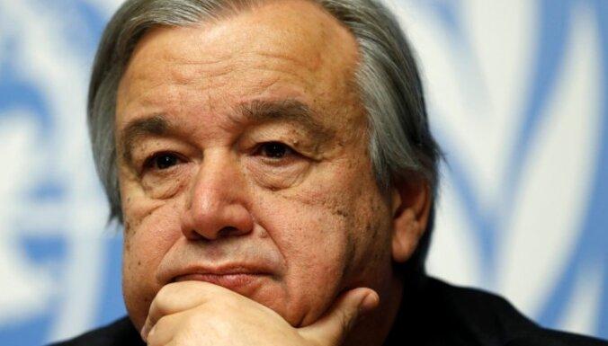 Par nākamo ANO ģenerālsekretāru kļūs Portugāles ekspremjers Gutērrešs