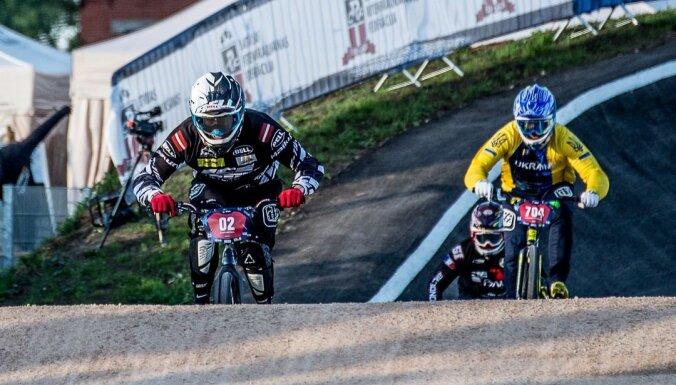 Eiropas BMX čempionāts Valmierā sākas ar Lisovska uzvaru krūzeros