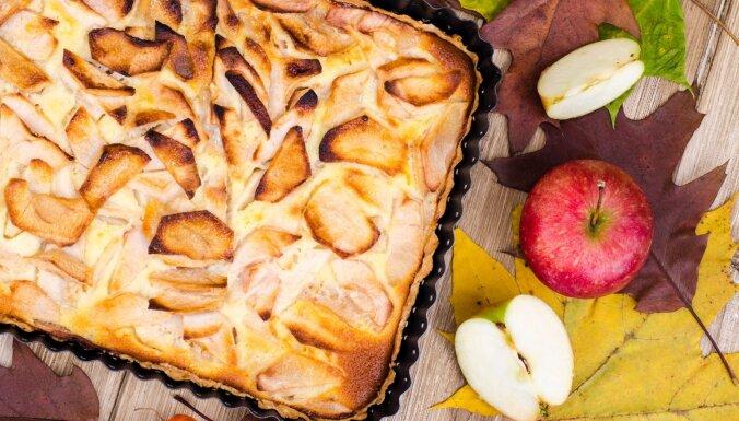 Gardā ābolu plātsmaize no biezpiena mīklas