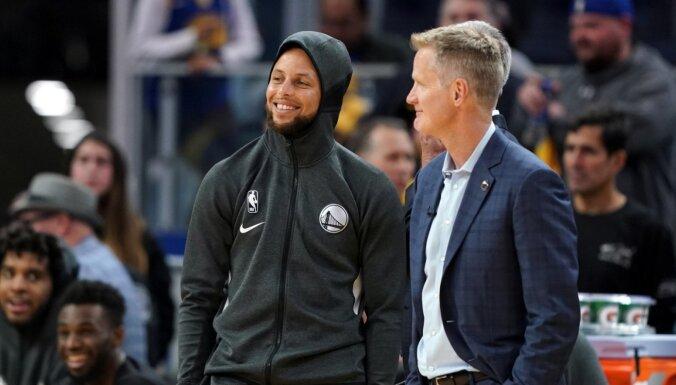 'Warriors' NBA drafta loterijā tomēr netiek pie pirmās izvēles
