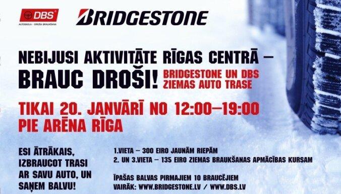 'Bridgestone' un DBS aicina uz nebijušu ziemas auto pasākumu 'Brauc droši!'
