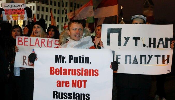 Minskā noticis jau ceturtais protests pret ciešākām saitēm ar Krieviju