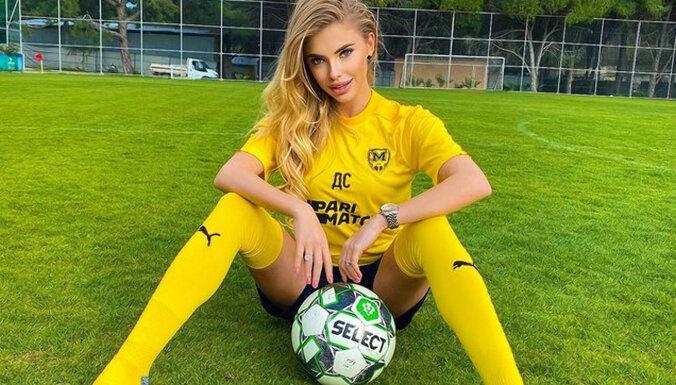 ФОТО: Эффектная украинская модель Дарья Савина стала футбольной телеведущей