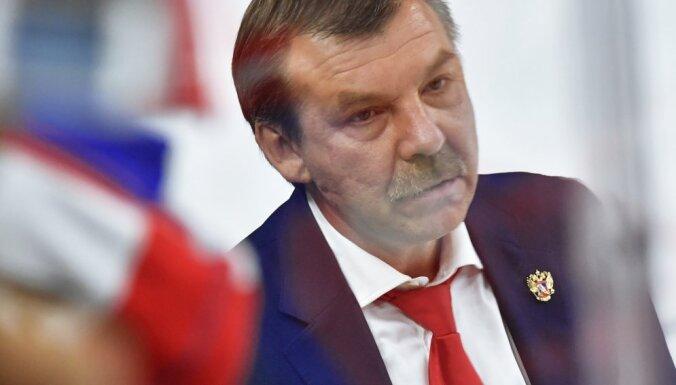 Russian national ice hockey team head coach Oleg Znarok