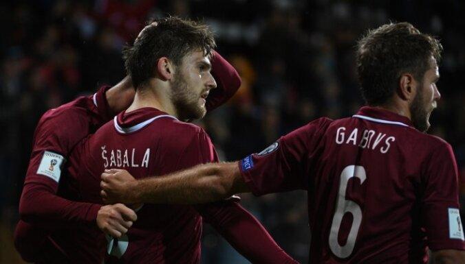 Сборная Латвии по футболу сыграет в феврале против участницы чемпионата мира-2018