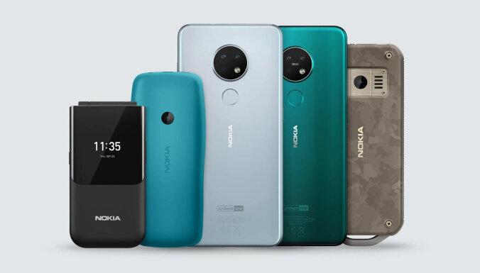 Prezentēti jaunākie 'Nokia' tālruņi, tostarp markas vēsturē visizturīgākais