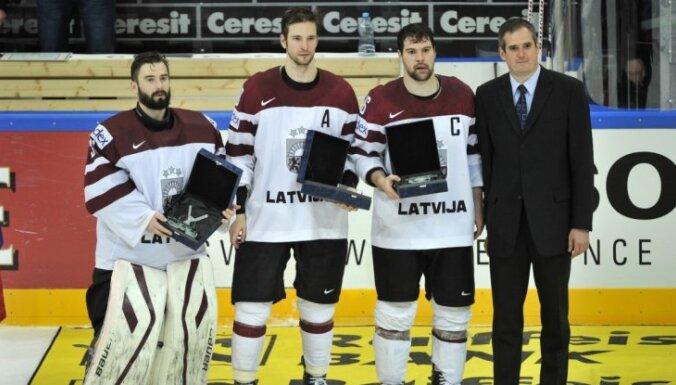 Названы лучшие игроки сборной Латвии на ЧМ-2015