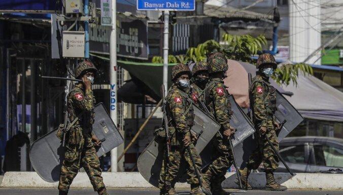 Mjanmas armija kopš apvērsuma nogalinājusi vismaz 70 cilvēkus, ziņo ANO