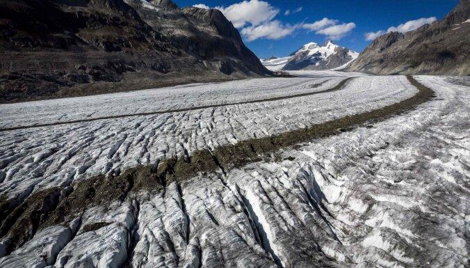 Šveices ledāji piecos gados zaudējuši desmito daļu no sava apjoma