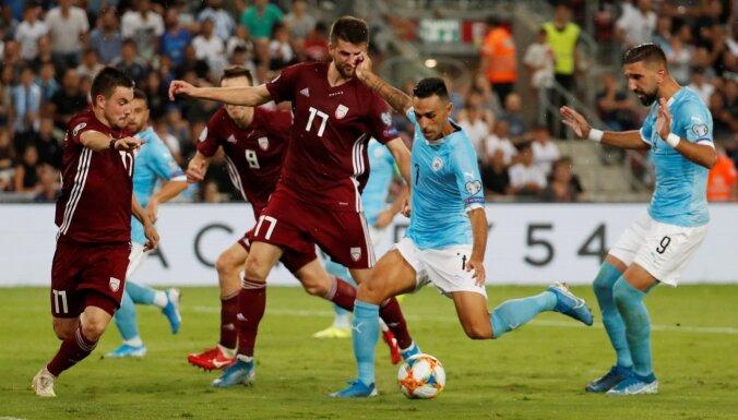 Latvijas izlases vājā aizsardzībā Izraēlā ielaiž trīs vārtus