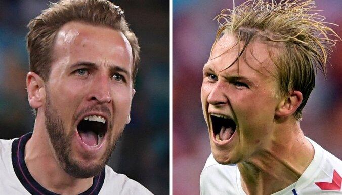 Eiropas čempionāta finālturnīra otrajā pusfinālā tiekas Anglijas un Dānijas izlases