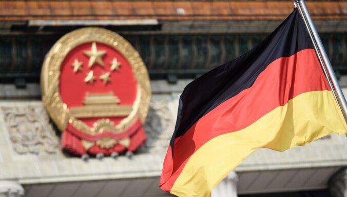 Ķīna pērn ceturto gadu pēc kārtas bijusi Vācijas svarīgākā tirdzniecības partnervalsts