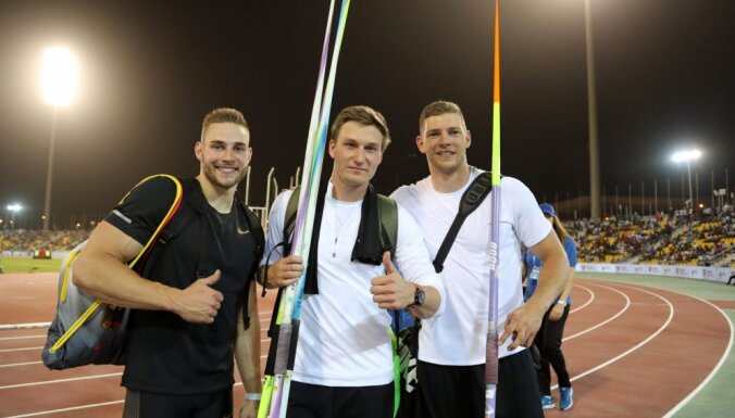 Rēlers, Feters un Hofmans Dimanta līgas pirmajā posmā met šķēpu aiz 90 metru atzīmes